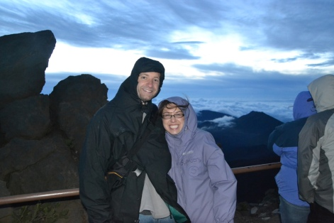 Waiting for the Sunrise on top of Hakeakala
