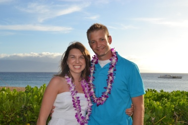 Us at the Sheraton Luau.