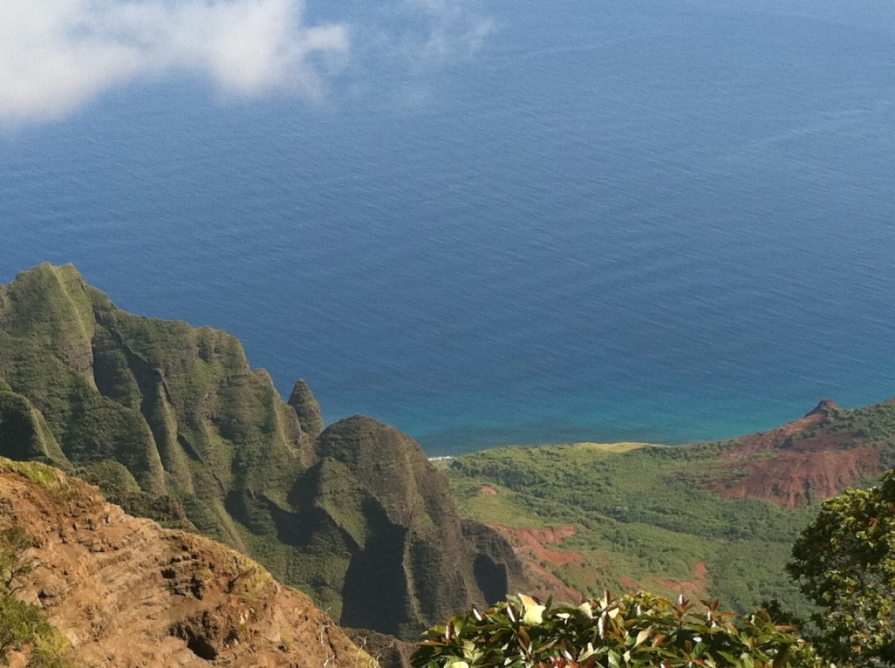 Na Pali Coast from above