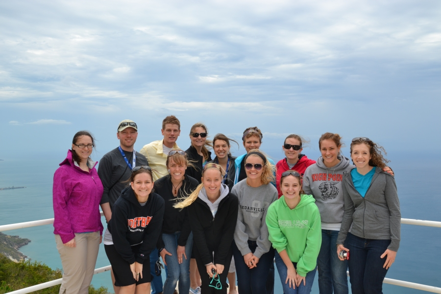 Most of the Team from Dayton...so windy but still amazing scenery!