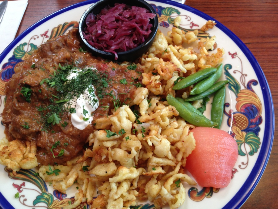 Dustin's goulash and spätzle lunch