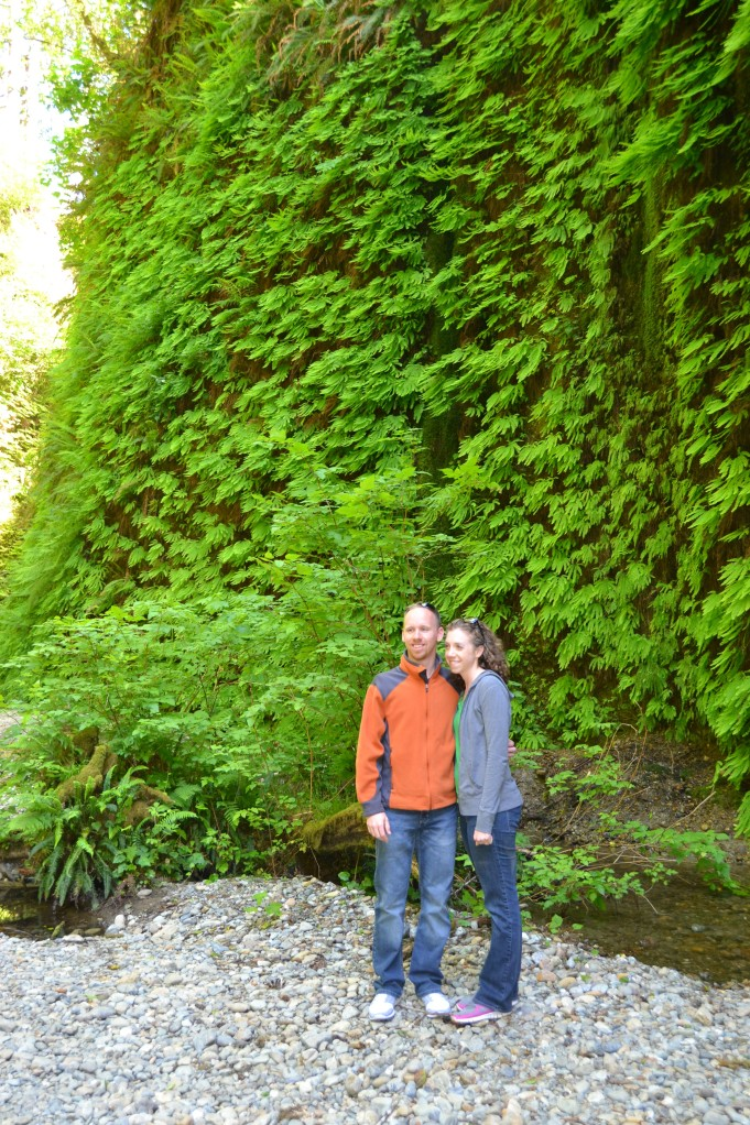 Sarah and Josh in Fern Canyon