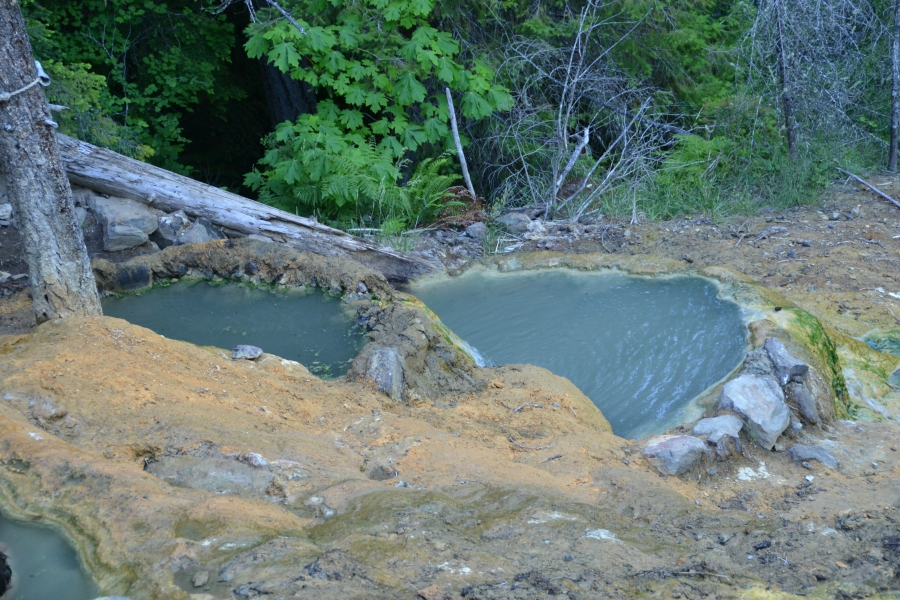 A couple of the hot springs