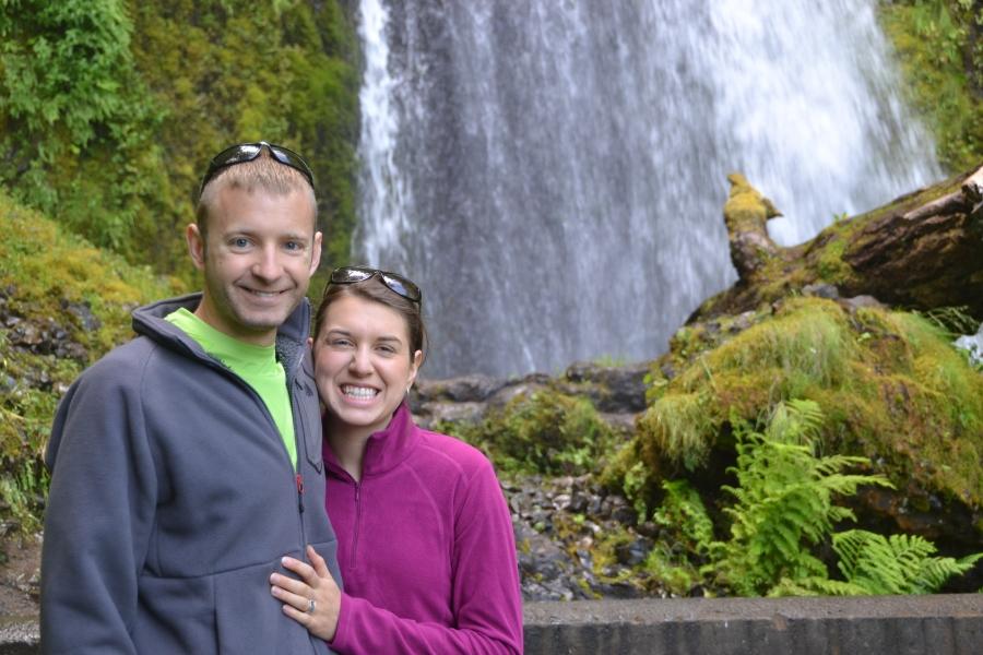 Dustin and I at the base of Wakeena Falls