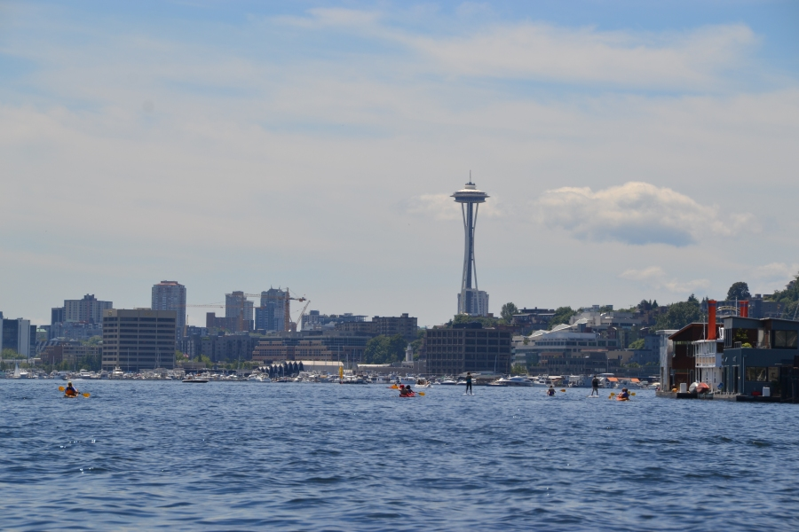Seattle's skyline from Lake Union.