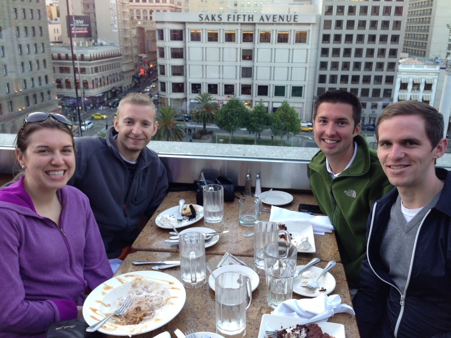 Friends from ONU @ the cheesecake factory- Union Square