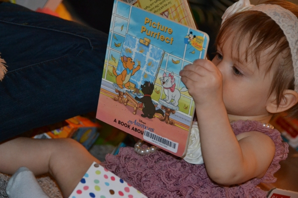 Reading her new book!
