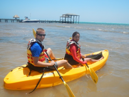 Victoria and Dustin Kayaking