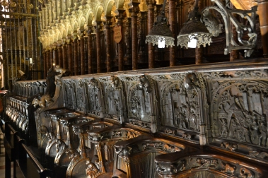 Choir seats in the cathedral