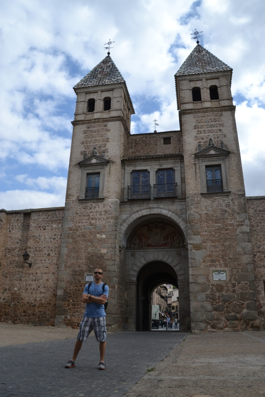 Dustin @ the Fort at the entrance to the old city