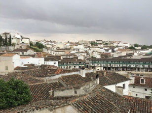 View from the top of the town of Chinchón