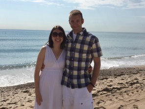 Quick stop to take a picture at the beach near Albufera.