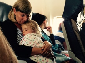 Sleepy head with Grandma