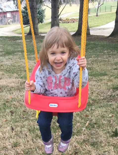 Swinging at Grandma and Grandpa's House