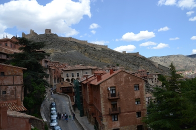 Aibarracin (the walls around the city in the background)