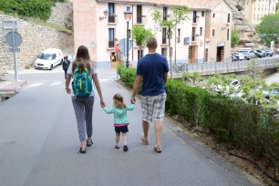 Leaving Albarracin