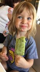 She loved it despite the initial face! Kiwi was likely a little sour!