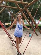 Aunt Ahh-yay enjoying the playground