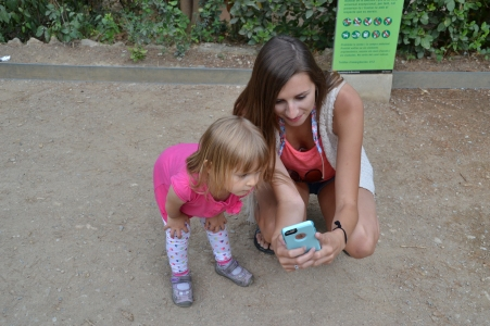 Talking to her Nana and Cousins #technology
