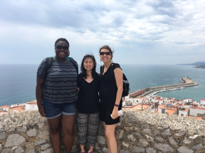 Two of my students and I at the top of Castle