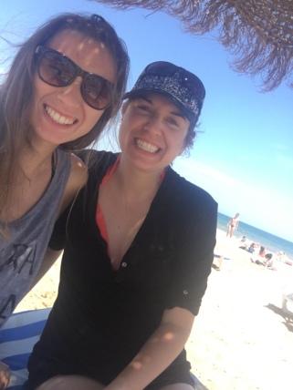 Ashley & I at the beach!