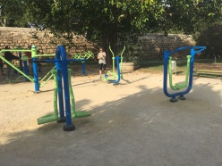 "Outdoor Exercise Equipment in the ""Rio Turia"""