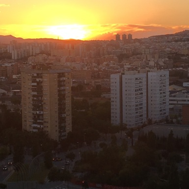 Sunset view from the roof!