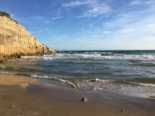 Small beach near resort