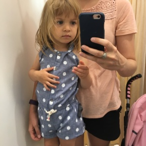 First dressing room experience, love this but not practical for potty training, ha!